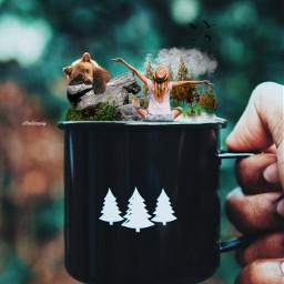 coffee art surreal manipulation visual freetoedit