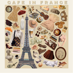 freetoedit moodboard niche aesthetic cafe coffee france french paris eiffel tower cafeinfrance