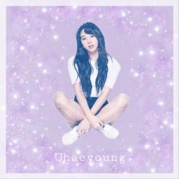 chaeyoung twice kpop purple shimmer