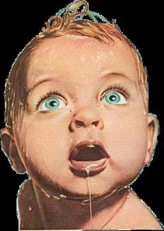 vintage baby kid wet freetoedit