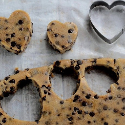 freetoedit chocolatechip biscuit dough hearts pclookdown