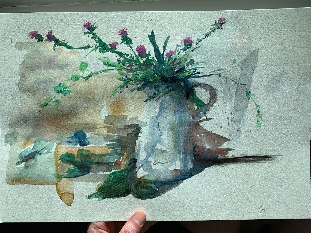 #freetoedit #watercolor with a thank you to Shibasaki
