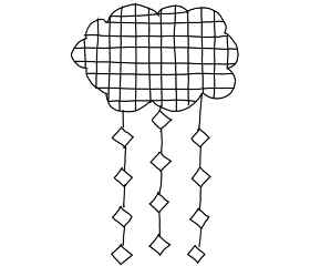 cloud doodle snow freetoedit
