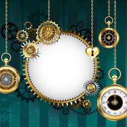 freetoedit background steampunk gears clockwork