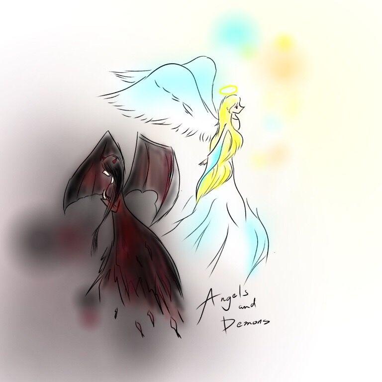Drawing Angel Demon Ibispaintx Cute Art Wings Digitalar