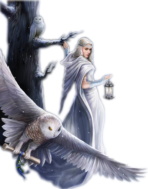 #femme #bird #white