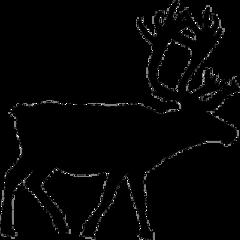 vector moose reindeer santa christmas freetoedit