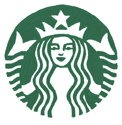 #starbucks #drink #coffee #tea #cappuccino #frappucino #bar #cafe #sign #emblem #logo #freetoedit