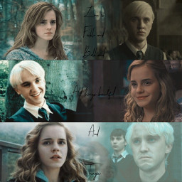 dramione beautiful collage harrypotter dracomalfoy
