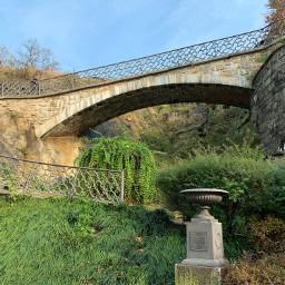 november nature exploring fence bridge