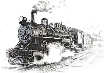 ftestickers railway train smoke freetoedit