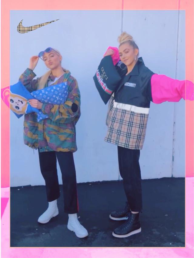 #burberry #fashion #style #streetwear #rework #reconstruct #sew #handmade #1of1 #losangeles #california #twins #blonde #creative #cool #new