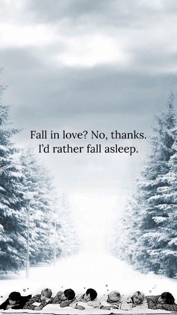 Bts Lockscreen Winter Love Sleep Snow Wallpaper Kpop