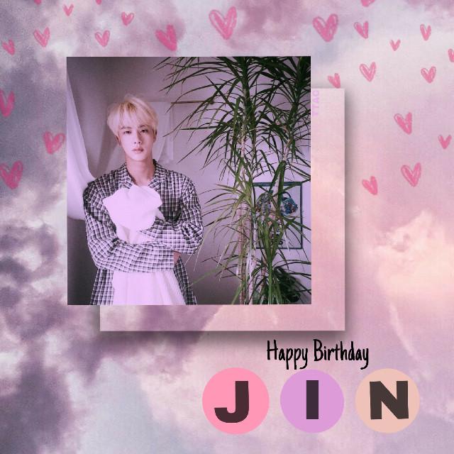 [💗]  #Jin #KimSeokjin #BTS #Kpop #Pink #freetoedit