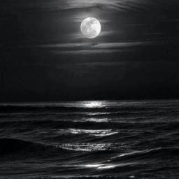freetoedit background blackandwhite ocean midnight