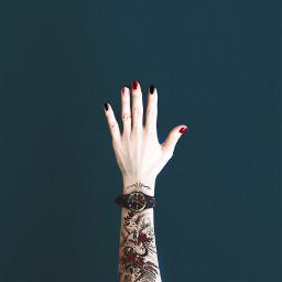freetoedit tattoo tattoos red black irccolorfulnails