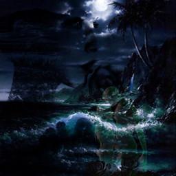 midnightmemories oceanlife lovecollages moonlight ocean