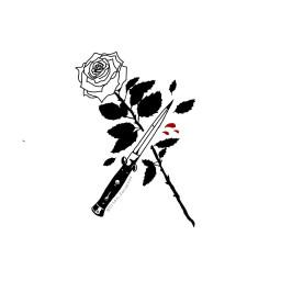 freetoedit rosa sangre cuchillo arte