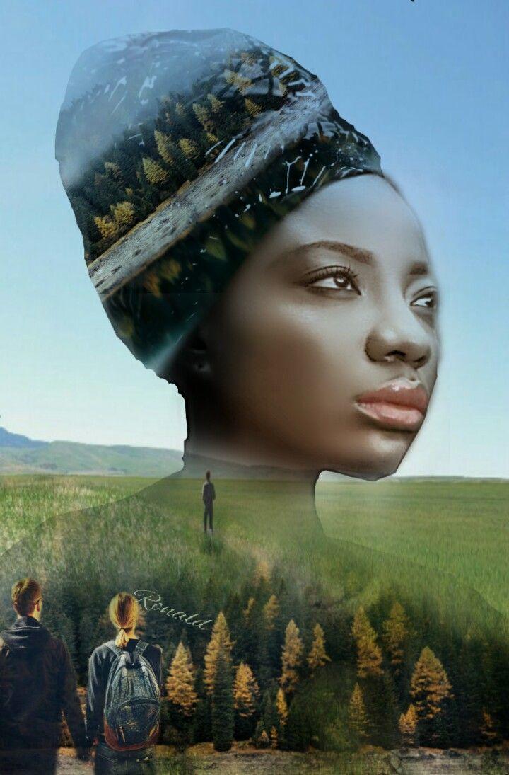 #freetoedit #silhouette #doubleexposure #woman#nature#coupel