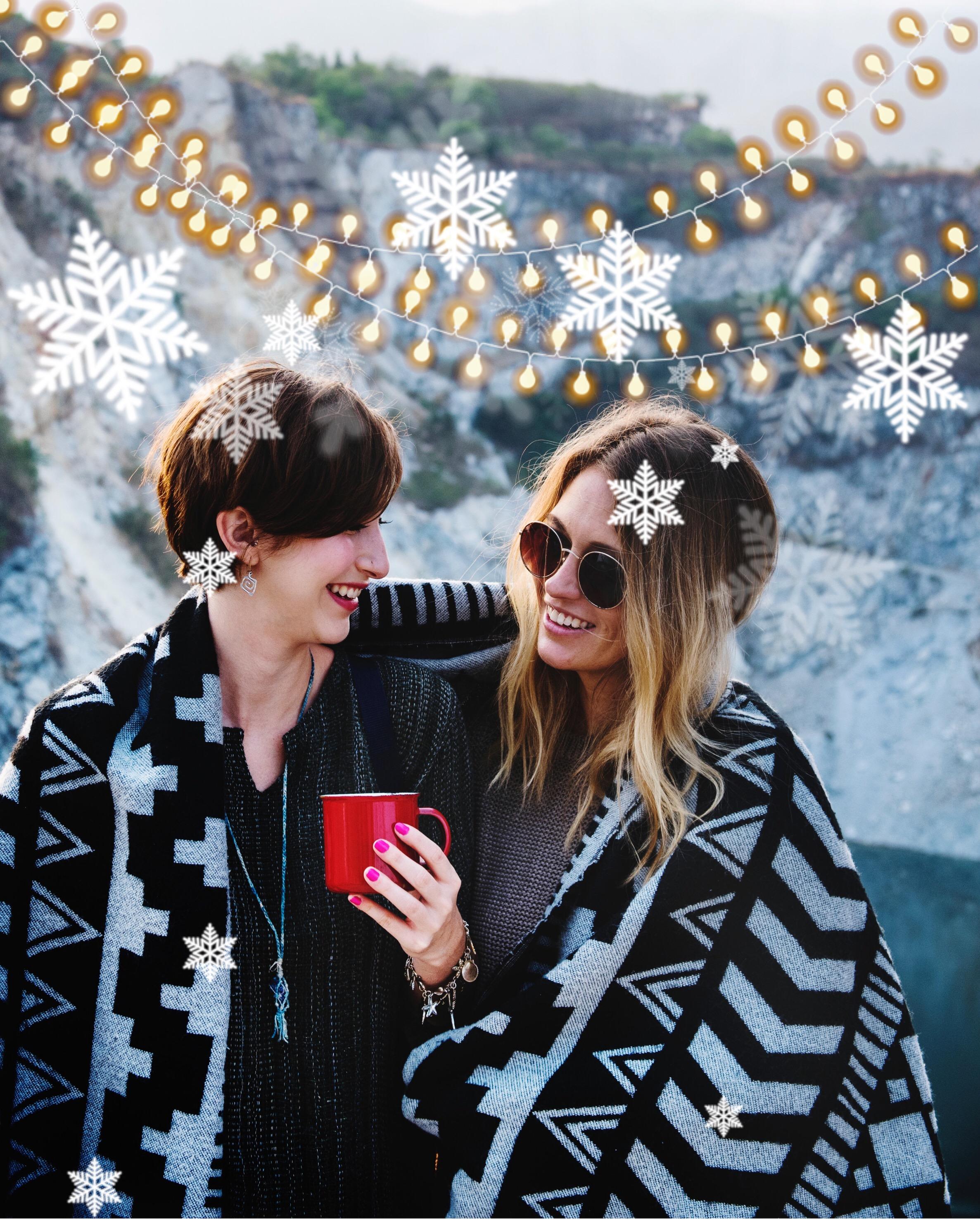 #christmas #lights #snowflakes #winter #holidays #freetoedit
