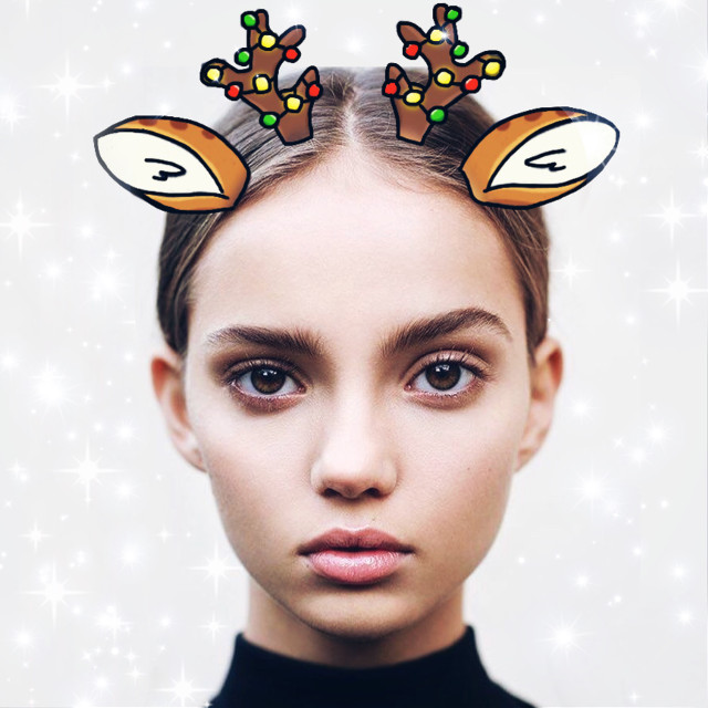 Guys, try to remix my new Christmas sticker!!! ❄️☃️🎄🎁❤️🎅🏻🤶🏻🌟 #christmasstickers #christmassticker #christmas #merrychristmas #deer #ears #reindeer #freetoedit #facemask #facefilter #snapchatfilted