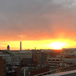 freetoedit viewfromabove rooftopview sunset washingtondc