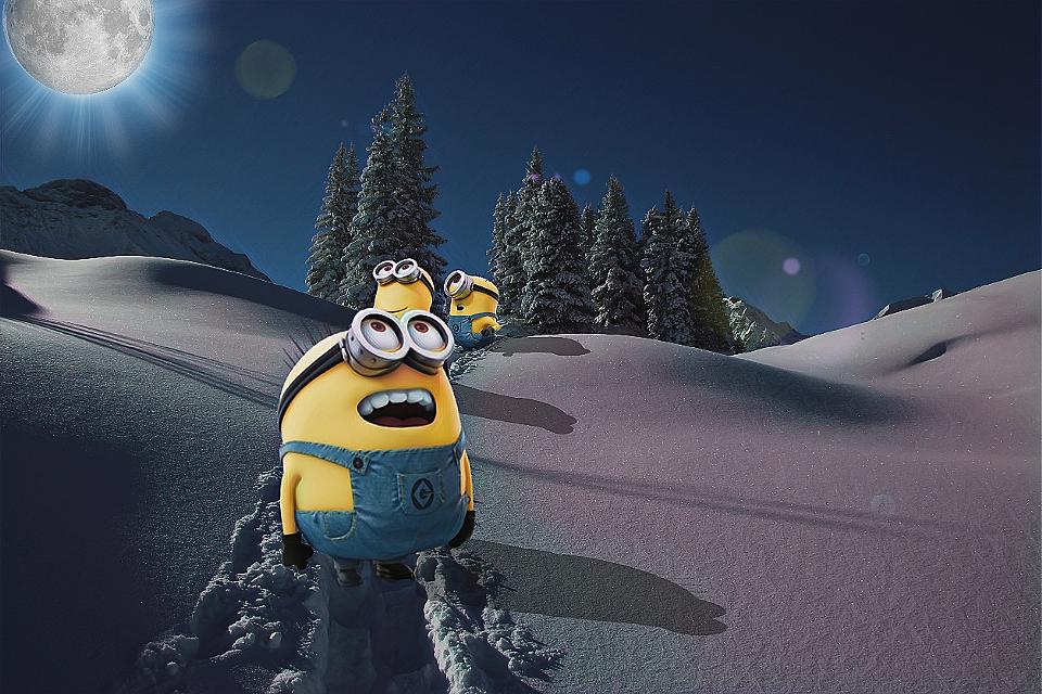 #FreeToEdit #winter #minions #stickers