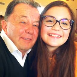 pchappy happy grandpa niece smiles freetoedit