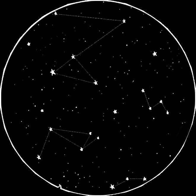 Sky Night Constellation Stars Moon Star Blackandwhite