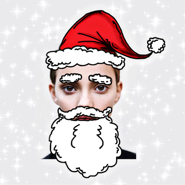 #christmassticker by me!!🎅🏻🎅🏻🎅🏻😍 #freetoedit #santaclaus #facemask #facefilter #christmaslights #christmastree #remixit