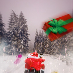 freetoedit santaclaus motorcycle speed snow ftestickers