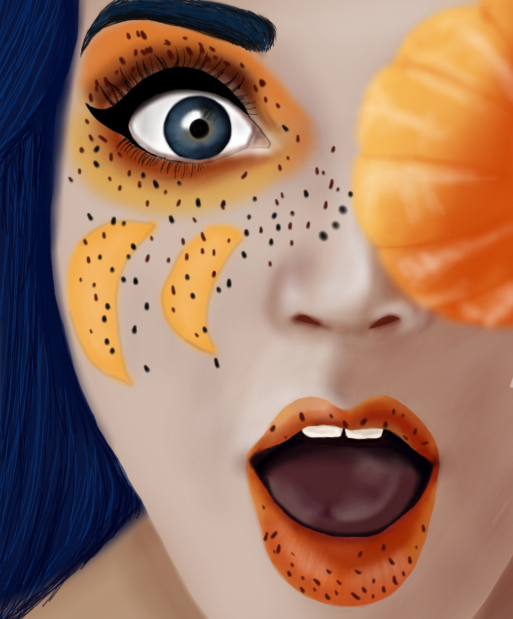 #freetoedit #dccolorfulhair #colorfulhair #dcfruits #fruits #girl #draw #mydrawing #orange #dcmyfavfruit