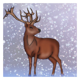 freetoedit interesting art snow deer