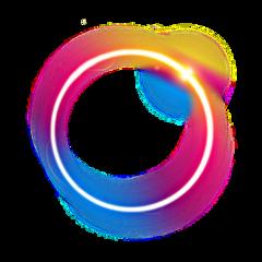 scframe frame galaxy eclipse rainbow