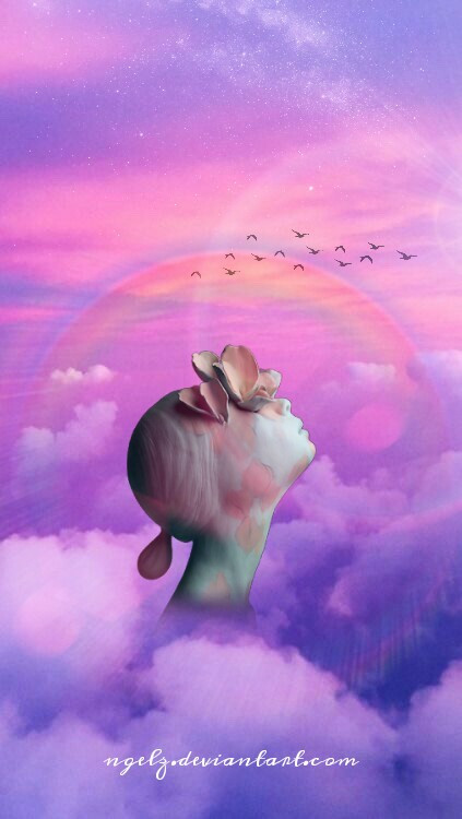 Head in the clouds #editedwithpicsart #surreal