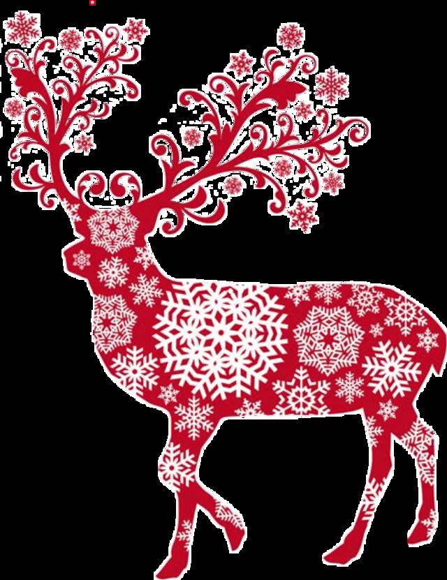 #reindeer #snowflakes