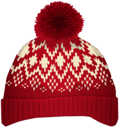 traditional holiday red hat accesories