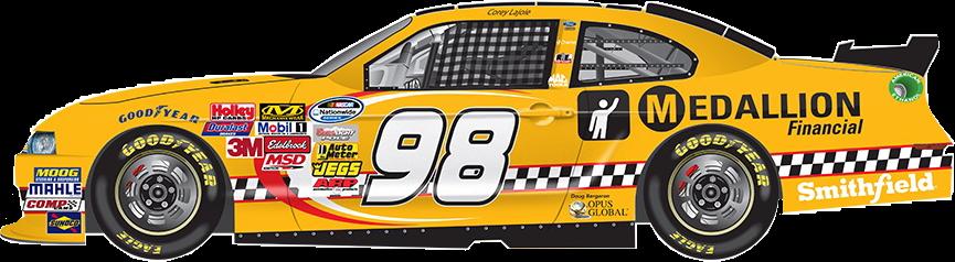 car nascar 98 yellow vehicle freetoedit