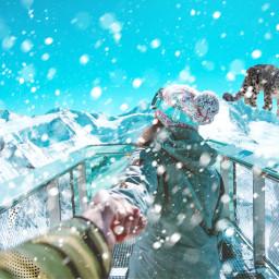 ircwinterwonderland winterwonderland freetoedit snowleopard snow