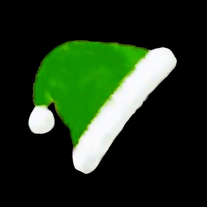 #圣诞帽绿