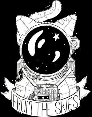 #space #sayings #cat #stars #blackandwhite #freetoedit