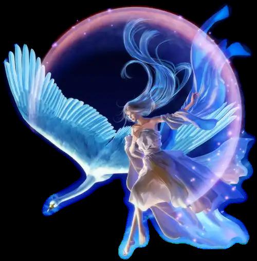 #ftestickers #moon #galaxy #light #people #girl #bird #woman