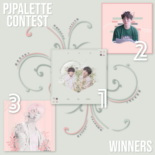 ─💖💚 PJPALLETE CONTEST RESULTS  Hello guys look! I finally was able to decide on the winners for the #pjpalette contest! Sorry for the long wait..💫  Shoutout to my friends and @steyi for helping me with picking the winners and sharing your opinions with me!💕  Without more further ado here are the winners and their prizes:  P R I Z E S:  Price for everyone: edit will be shown in my upcoming YouTube video❤  1st place:  • special shoutout on my social media • follow • 3 requests: edit/icon/wallpaper/ watermark  • 3 reposts  2nd place: • special shoutout on my Instagram • follow • 2 requests: edit/ icon/ wallpaper/ watermark • 3 reposts  3rd place • follow • 1 request: edit/ icon/ wallpaper/ watermark • 3 reposts  1st Place @krahun : HELL YEAH!! GIRL your edits were all amazing it was really hard for us to choose which one to pick first. We eventually settled with the taetae one😍 I'm so proud of you and seeing how much you have improved in such a short amount of time! Keep up💫  2nd Place @sofi707 : I really loved it how you were able to include all the colors! It's a very beautiful and creative edit!💫 keep up with the amazing work your edits are very good!!💛  3rd place @worldwidemochi : Your edit of jin was very amazing and unique! The way you incorporated the butterfly and the flowers is very beautiful. I have no words to describe it💕 keep up with the amazing work💫  AND THANK YOU SO MUCH TO EVERYONE WHO PARTICIPATED (I'm going to list them all here soon so make sure to check them out and give every single one of them some love)  And dont be sad that you didn't win! Everyone's edit was amazing and it was very difficult for us to pick winners! So I will show everyone's edit in my upcoming YouTube video so you better make sure to subscribe to my channel and turn in my post notifications so you won't miss it!!💖  #kpopedit #kpop #bts #btsedit #taehyungedit #yoongiedit #seokjinedit #btstaehyung #btsjin #btsyoongi #taehyungbts #seokjinbts #yoongibts #kimtaehyung #kimseokjin #m