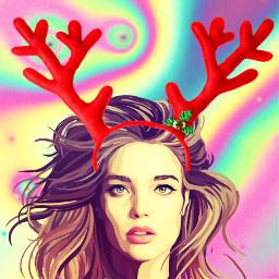 srcreindeerantlers reindeerantlers freetoedit newyear