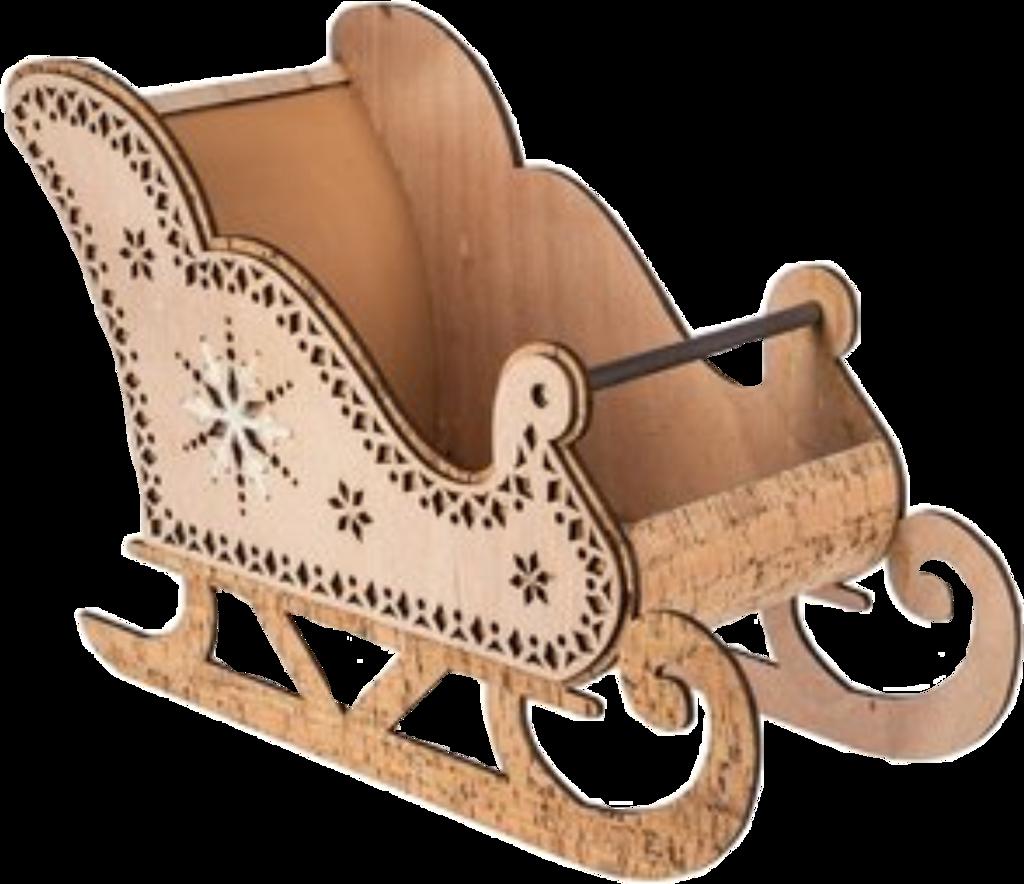 #sleigh #brown #wood #christmas #freetoedit