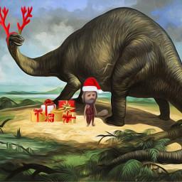 srcreindeerantlers reindeerantlers freetoedit santa funny