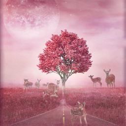 freetoedit vipshoutout surreal deer pinkedit