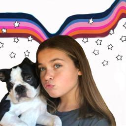 freetoedit artsy dog cute colorful