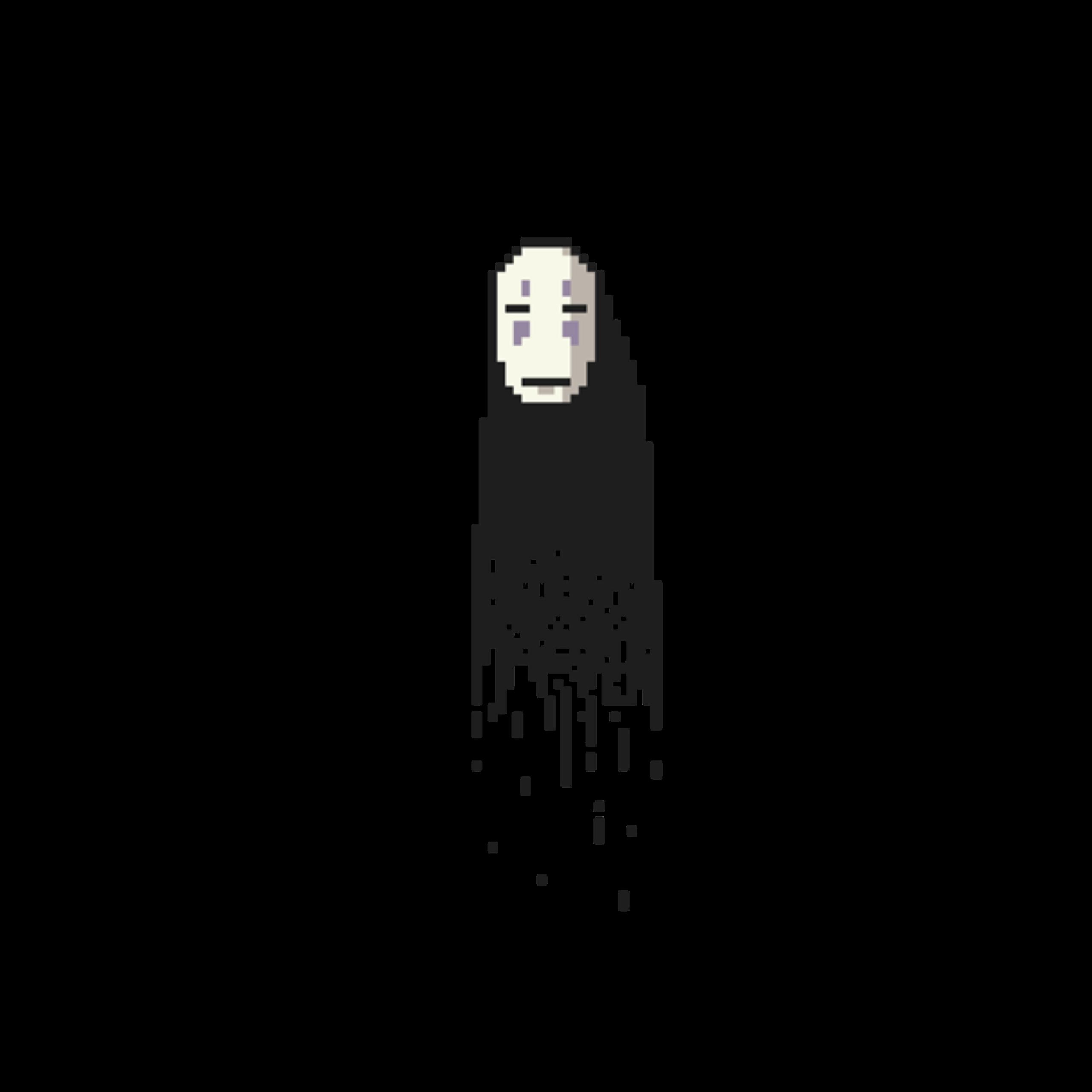 Noface Spiritedaway Anime Sticker By Indigobuckk