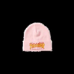 trasher beanie pink skater vans